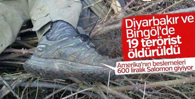 Diyarbakır ve Bingöl'de 19 terörist öldürüldü