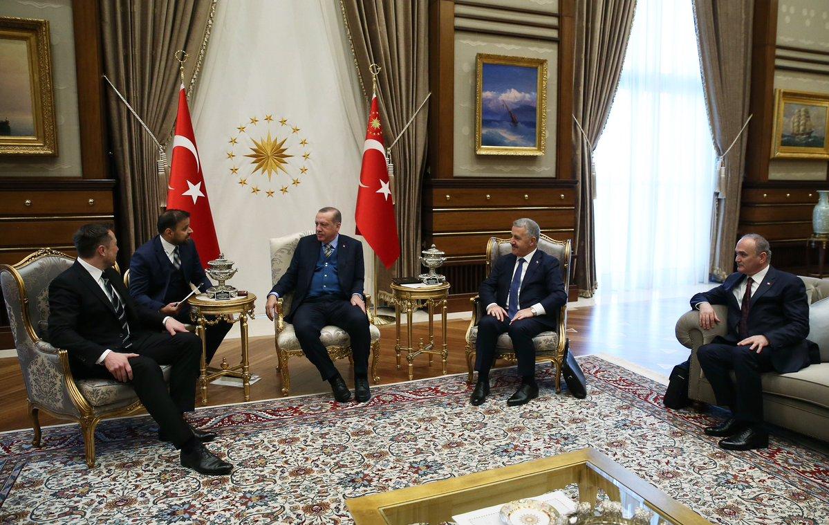 Beştepe'de Erdoğan-Elon Musk görüşmesi