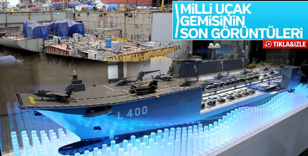 İlk milli uçak gemisi TCG Anadolu görüntülendi