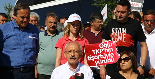 Kılıçdaroğlu'nun oğlu TKP'nin sloganıyla yürüdü