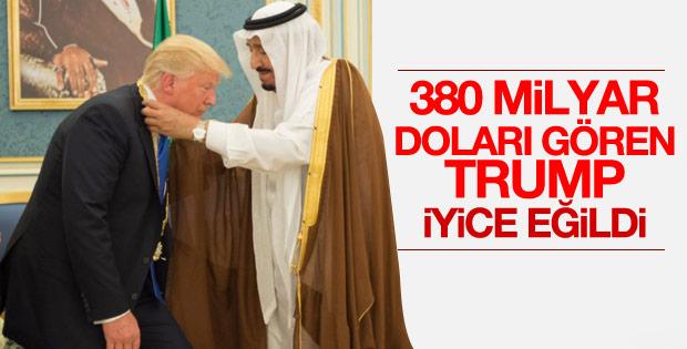 Kral Selman'dan Trump'a devlet nişanı