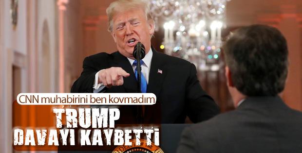 Trump'la tartışan CNN muhabiri kazandı