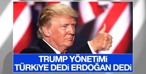 Trump yönetiminden Erdoğan açıklaması