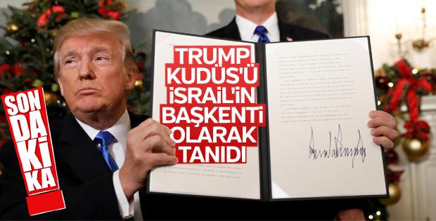 Trump'ın Kudüs açıklaması