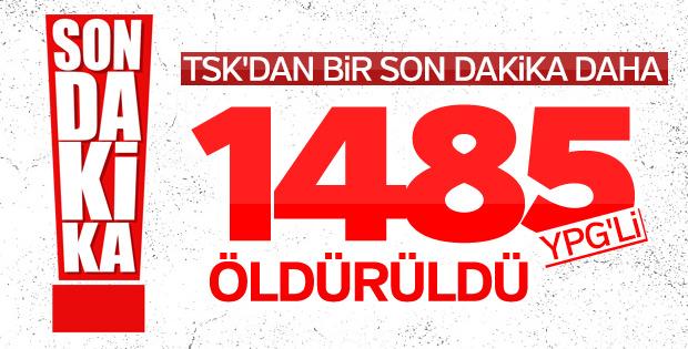 TSK: 1485 terörist etkisiz hale getirildi