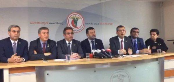 CHP'li vekiller Türk Tabipler Birliği'nde
