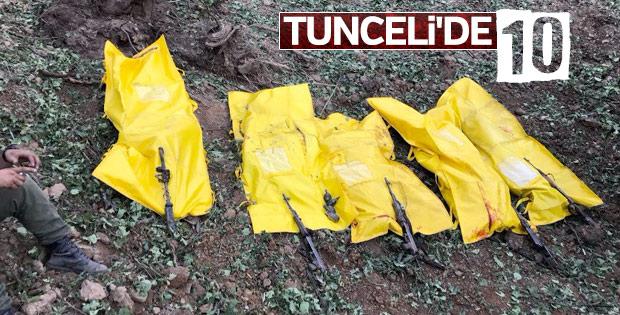 Tunceli'de öldürülen teröristlerin son hali