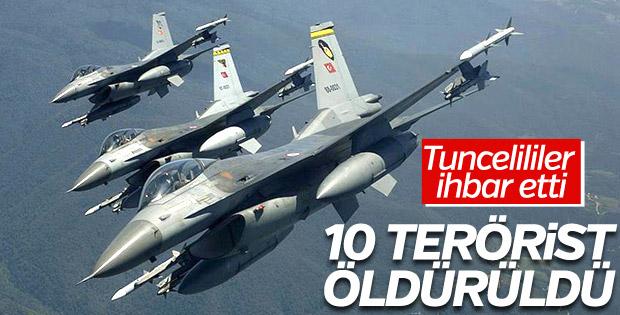 Tunceli'de 10 terörist öldürüldü