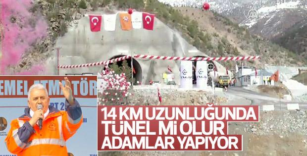 Başbakan Zigana Tüneli Temel Atma Töreni'ne katıldı