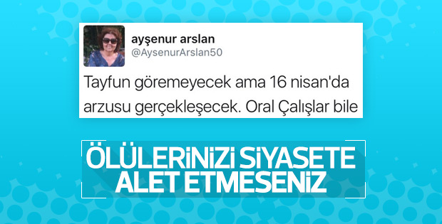 Ayşenur Arslan Talipoğlu'nun ardından referandumu andı