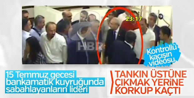 Kılıçdaroğlu'nun havalimanındaki kaçış videosu