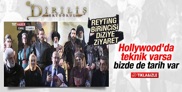Yalçın Akdoğan Diriliş'in setini ziyaret etti İZLE