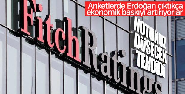 Fitch: Türk lirasındaki zayıflık kredi notunu etkiler