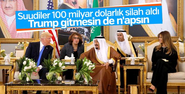 Trump Suudi Arabistan'da Kral Selman'la görüştü