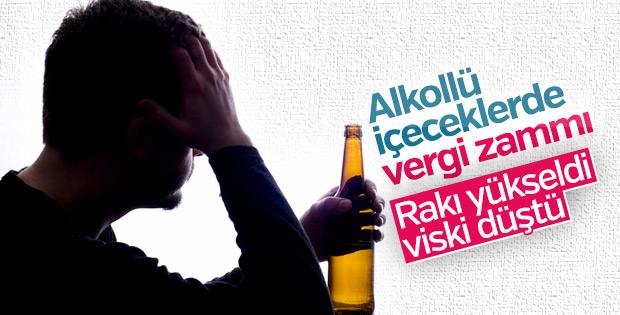 Alkollü içeceklerde vergi oranı arttı