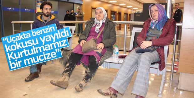 Trabzon'da pistten çıkan uçağın yolcularından o anlar