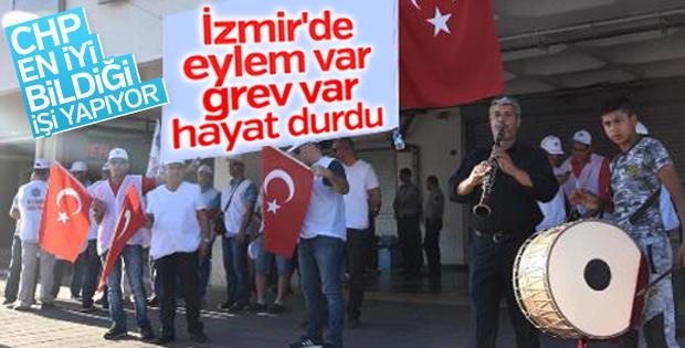 Grev İzmir trafiğini kilitledi