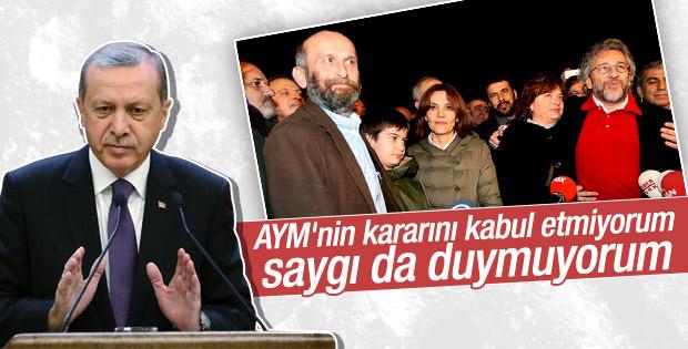 Erdoğan'dan AYM'nin Can Dündar kararına sert tepki