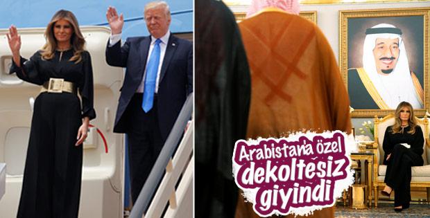 Melania Trump'ın Arabistan hassasiyeti