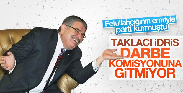 İdris Naim Şahin darbe komisyonuna gitmiyor