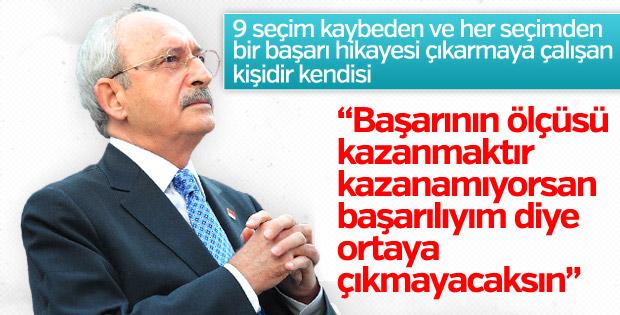 Kılıçdaroğlu'na göre başarının kriteri kazanmak