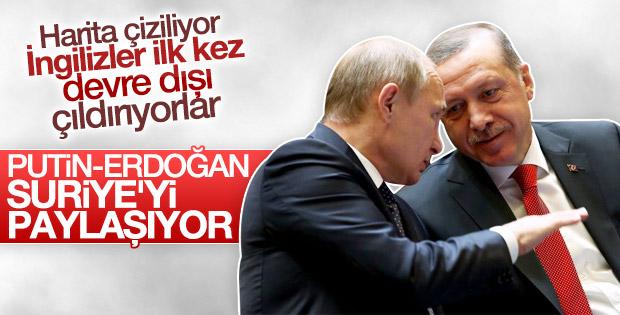 Times'ın Putin ve Erdoğan Suriye'yi paylaşıyor haberi