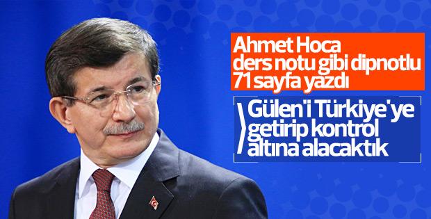 Davutoğlu Darbe Komisyonu'na 71 sayfa yanıt gönderdi