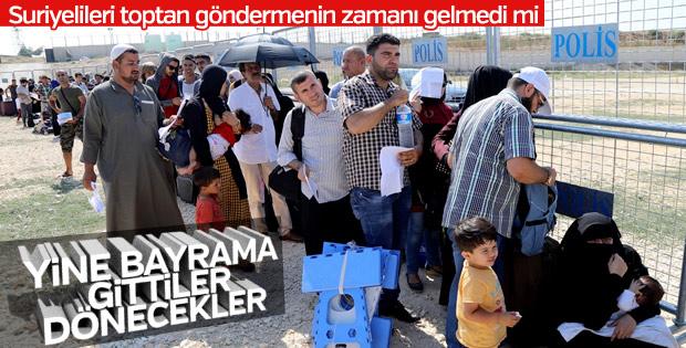 Sınır kapısında Suriyelilerin bayram yoğunluğu başladı