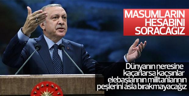 Erdoğan'dan, hesap soracağız sözü