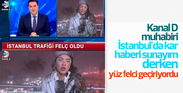 Kanal D muhabiri Fulya Öztürk'ün zor anları