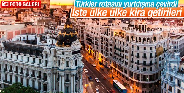 Türkler rotasını yurtdışına çevirdi