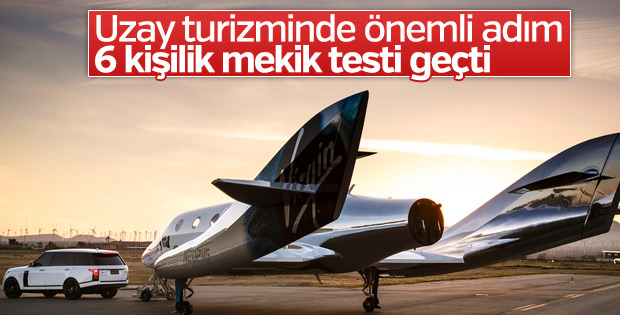 Virgin Galactic turistik uzay aracını başarıyla test etti