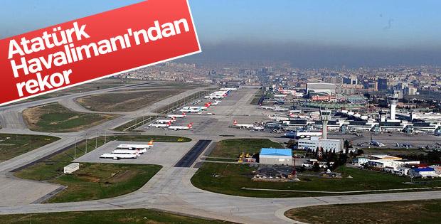 Atatürk Havalimanı'ndan rekor