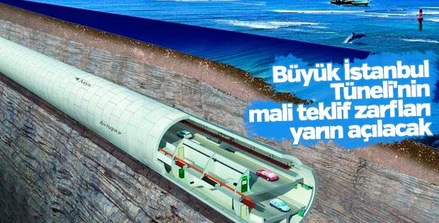 Büyük İstanbul Tüneli'nin mali teklif zarfları açılacak
