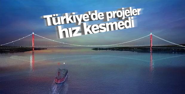 Türkiye'de projeler hız kesmedi