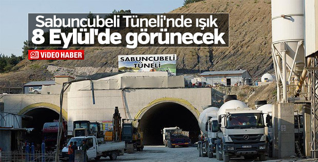 Sabuncubeli Tüneli'nde ışığa 264 metre kaldı