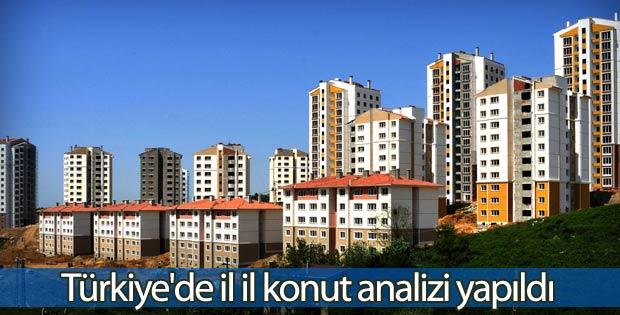 Türkiye'de il il konut analizi yapıldı