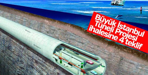 Büyük İstanbul Tüneli Projesi ihalesine 4 teklif