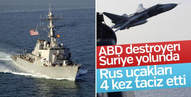 ABD destroyerı Donald Cook Suriye yolunda
