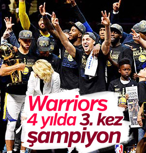 NBA'de Golden State Warriors şampiyon oldu