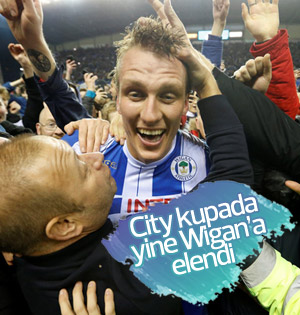 Wigan Athletic, FA Cup'ta Manchester City'i eledi