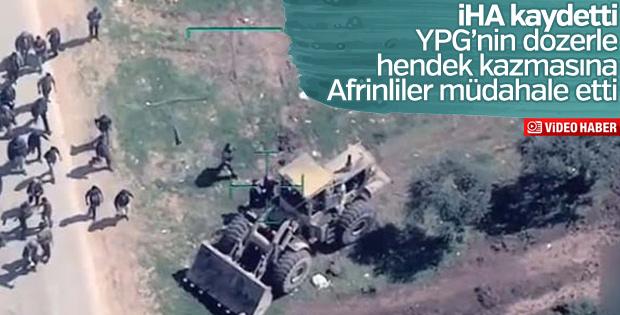YPG sivillerin Afrin'den çıkışını hendeklerle engelliyor