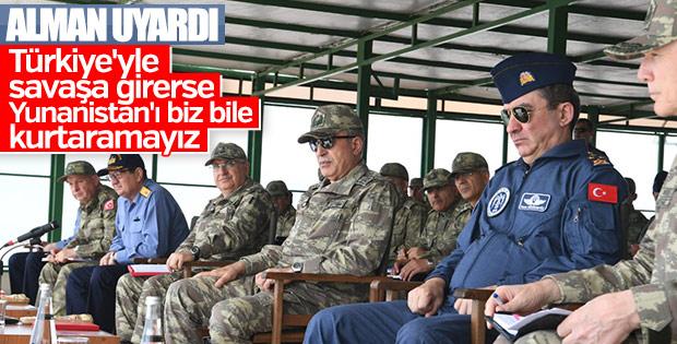 Alman basını: Yunanistan'ın gücü Türkiye'ye yetmez