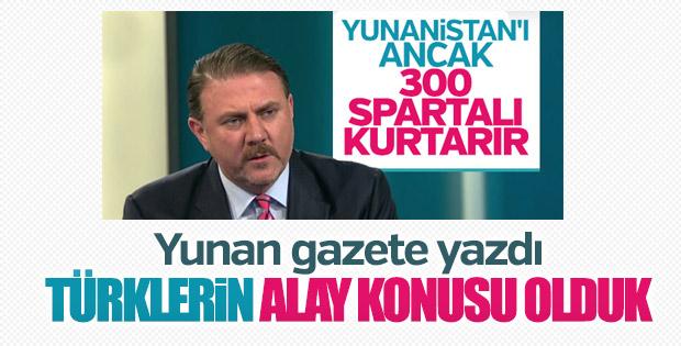 Yunan gazetesi: Türklerin alay konusu olduk