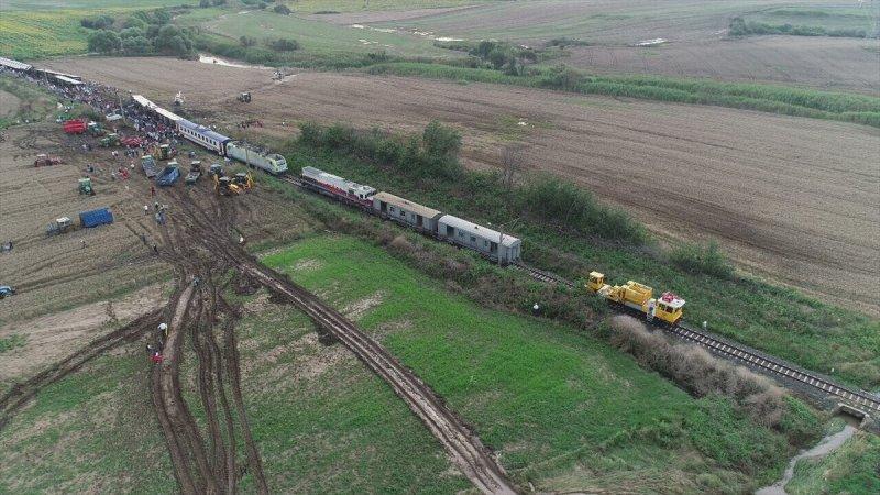 Tekirdağ çorludaki Tren Kazasının Havadan çekilen Görüntüleri