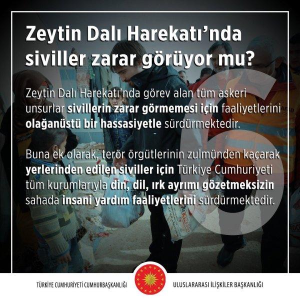 Zeytin Dalı Harekâtı'nda siviller zarar görüyor mu?