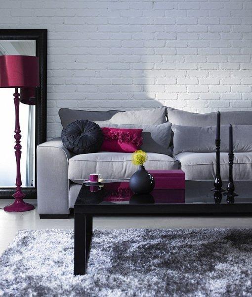 Gri oturma odas dekorasyonlar for 2 1 salon dekorasyonu