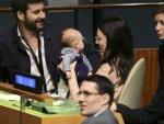 Yeni Zelanda Başbakanı BM Zirvesi'ne bebeğiyle geldi
