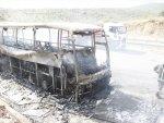 Boş yolcu otobüsü Bursa'da yandı