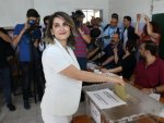 Jailed HDP presidential candidate's wife casts vote
